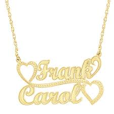 Gold Chain With Name Necklaces For Couples With Names The Necklace