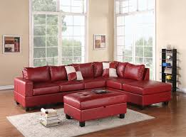 Microfiber Sectional Sofa With Ottoman by Red Sectional Sofa Microfiber Centerfieldbar Com