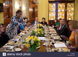 White House Dining Room by Us First Lady Michelle Obama Lights A Candle During A Passover