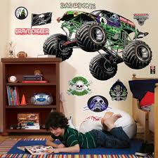 remote control grave digger monster truck monster jam giant wall decals birthdayexpress com