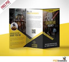 brochure 3 fold template psd multipurpose trifold business brochure free psd template
