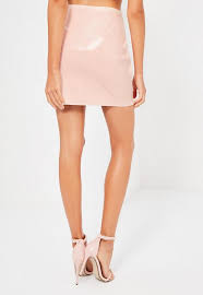 galore pink patent faux leather mini skirt missguided