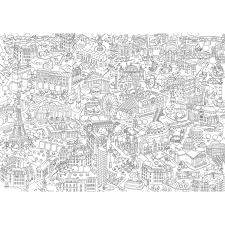 giant coloring paris poster 100 x 70 cm 39 4 x 27 9 inches omy