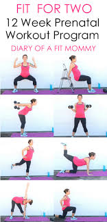 diary of a fit mommyfit for two 12 week home prenatal workout