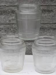 vintage glass canisters kitchen vintage kitchen glassware