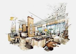 Sketch Interior Design After Adornment Interior Renderings And Sketches