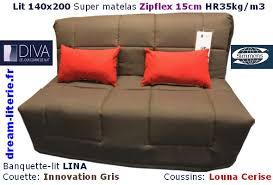 matelas canap bz banquette bz lina matelas zipflex simmons hr 35kg m3 15cm 140x200