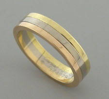 tricolor ring tri color wedding band ebay