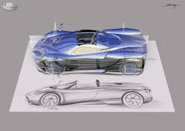 pagani drawing pagani huayra roadster design concept begs the rhetorical question
