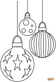baubles free christmas coloring pages free craft