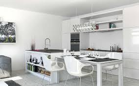 kitchen room studio apartment white kitchen diner studio