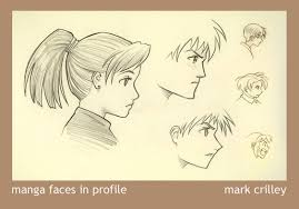 manga faces in profile by markcrilley on deviantart