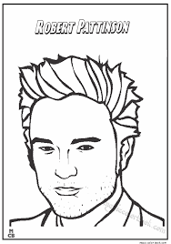 famous people coloring pages robert pattinson