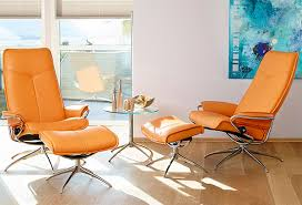 reclining back chair with ottoman stressless paloma clementine leather by ekornes stressless paloma