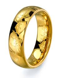 the one ring wedding band lord of the rings gold color tungsten ring wedding band mens