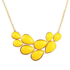 yellow necklace images Yellow bubble jewelry drop shape necklace yellow necklace cluster jpg