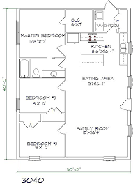 floor plan for 30x40 site 30 40 house plans add bed or space and expand living room metal