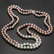 necklace pearl pink images Double opera diamond south sea freshwater pink pearl necklace for jpg