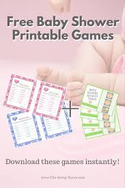 printable baby shower decor and games sets handmade gifts diy