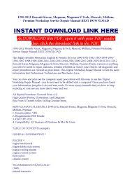 1990 2012 renault kerax workshop service repair manual best