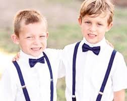 boys navy suspenders bow tie boys to bow tie and