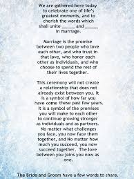 wedding blessing words my non religious and sweet wedding ceremony script par 1
