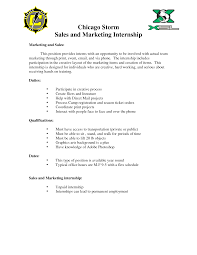 cover letter for marketing internship marketing internship 31