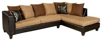 Chocolate Sectional Sofa Flash Furniture Riverstone Sierra Chocolate Microfiber Sectional