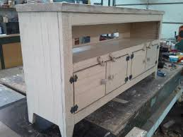 tv cabinet 48 inch distressed storage bench primitive plazma big