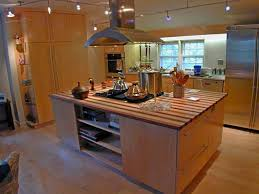 kitchen room amazing island stove with brown wooden floor