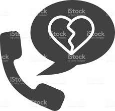 breakup by phone icon stock vector art 840534744 istock
