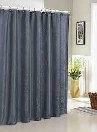 Leaf Design Curtains Slate Blue Jacquard Fabric Shower Curtain Vine And Leaf Design