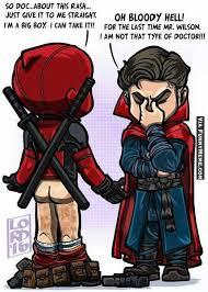 Funny Deadpool Memes - funny memes deadpool visits dr strange thatdoge