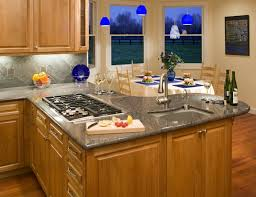 Cobalt Blue Mini Pendant Lights Gripping Kitchen Layouts With Island Sink And 5 Burner Gas Cooktop