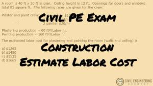 Estimated Cost Of Building A House Construction Estimating Labor Costs For Work Youtube