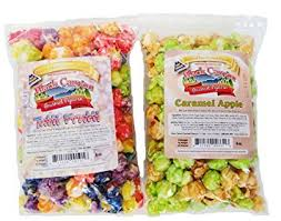 candy apple bags gourmet candy flavored rainbow fruity popcorn