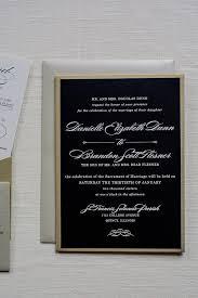 wedding invitations quincy il black and gold pocket wedding invitations formal classic