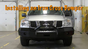 nissan titan rear bumper replacement how to install an iron cross bumper on nissan titan project youtube