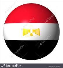 Egypts Flag Flags Egyptian Flag Sphere Stock Illustration I2645840 At