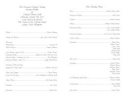 wedding program layout template free wedding templates programs response cards and more