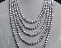 long silver pearl necklace images Long pearl necklace etsy jpg
