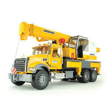 bruder farm toys bruder mack granite liebherr crane truck qc supply