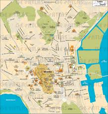 map of tunisia with cities daad tunis map my
