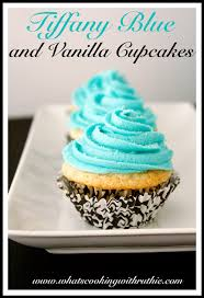 tiffany blue and vanilla cupcakes cooking with ruthie