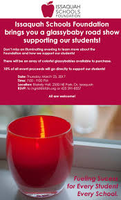 glassybaby road show benefiting isf issaquah highlands