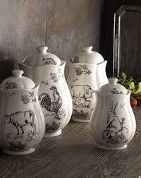 beautiful pottery kitchen canisters this is the canister set iv