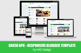 green apk responsive blogger template projects to try