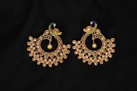 peacock design earrings design chandbali earrings