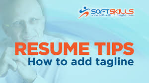 resume formatting tips how to add tagline in microsoft word youtube