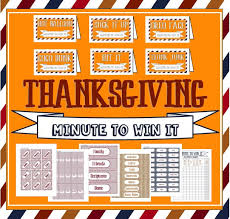 activity day ideas thanksgiving minute to win it